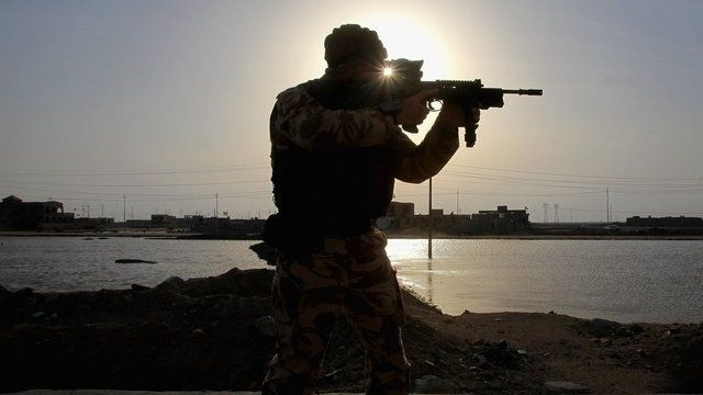 British soldier in Basra - file image