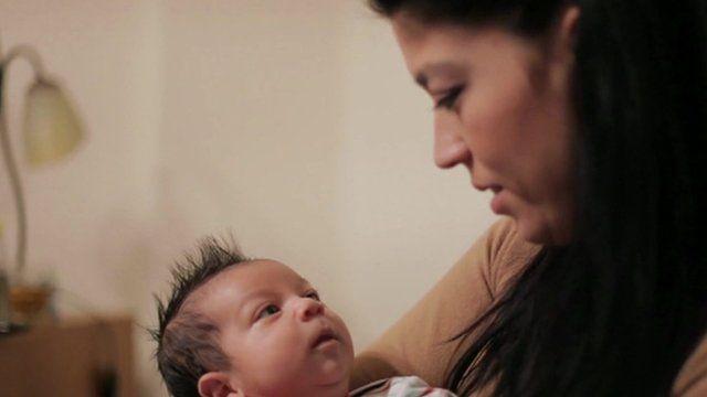 Eleni Lazarou and her baby