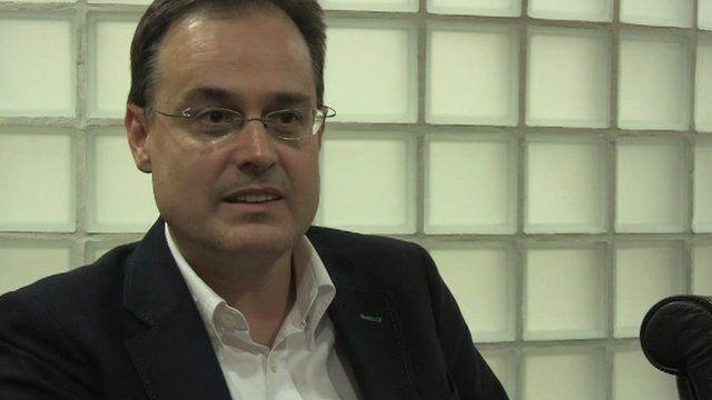 Forka Schmitt, CEO of Vidrala, spoke to BBC News NI's Julian Fowler