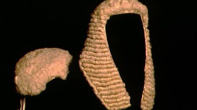 Wigs worn in court