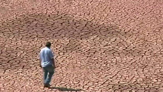 Dried up land in Brazil
