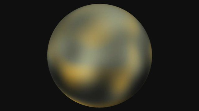 Pluto as seen by the Hubble Space Telescope