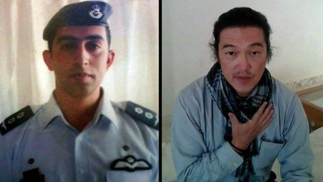 Jordanian hostage and Kenji Goto