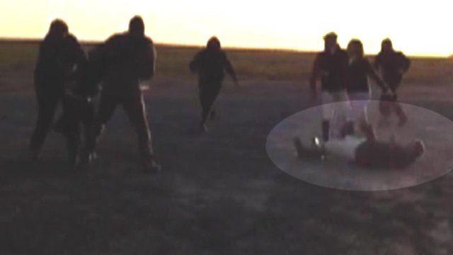 Confrontation between Tedworth Hunt and saboteurs