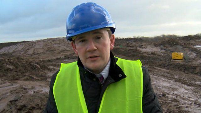 Matthew Richards at the prison site