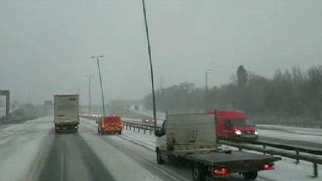 Swaying lamps on M62 captured by Bob Hill