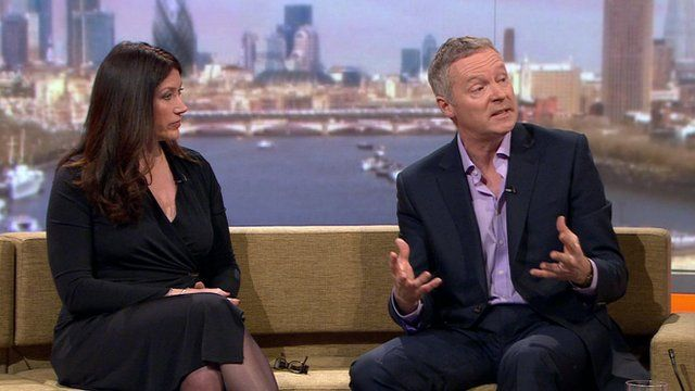 Victoria Newton and Rory Bremner