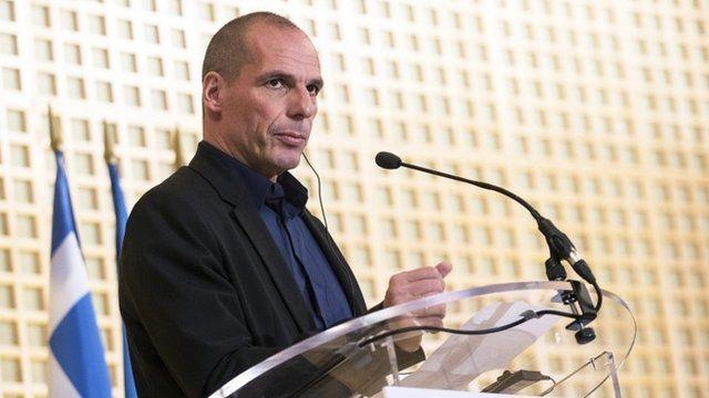The Greek finance minister, Yanis Varoufakis
