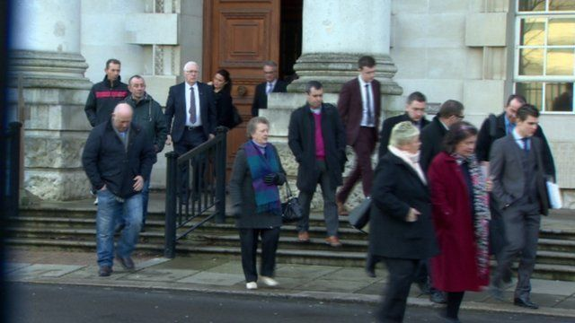 Relatives of a number of the other victims of the gang accompanied Edward Barnard to the High Court in Belfast on Monday