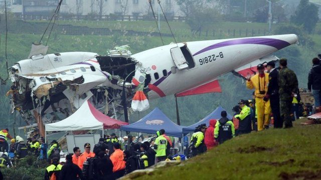 Plane wreckage is moved from river