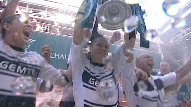 Hull FC with the Challenge Cup