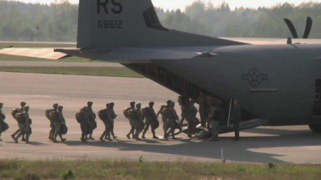 Nato troops on exercise, file pic