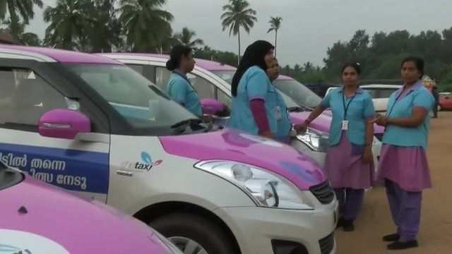 Female taxi drivers in India