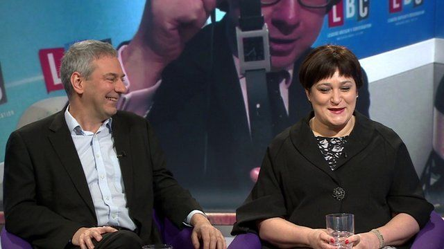 Kevin Maguire with Sarah Vine and image of Michael Gove