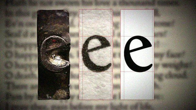 A typeface called Doves Type