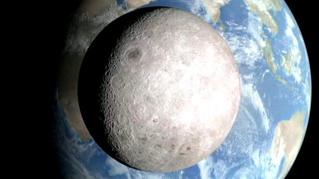 Moon seen from the far side