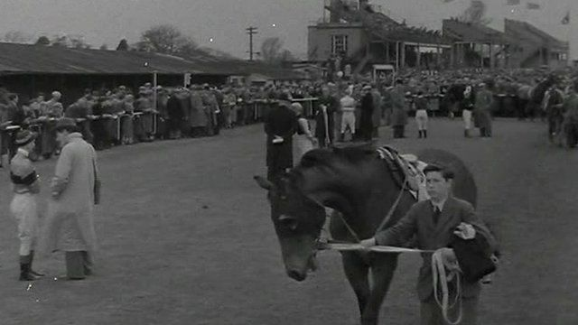 From the archive: The Ulster Derby takes place at Maze Racecourse in the 1950s