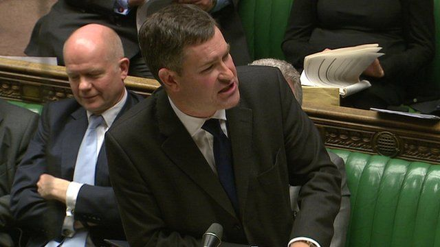 David Gauke (right) speaking in the House of Commons