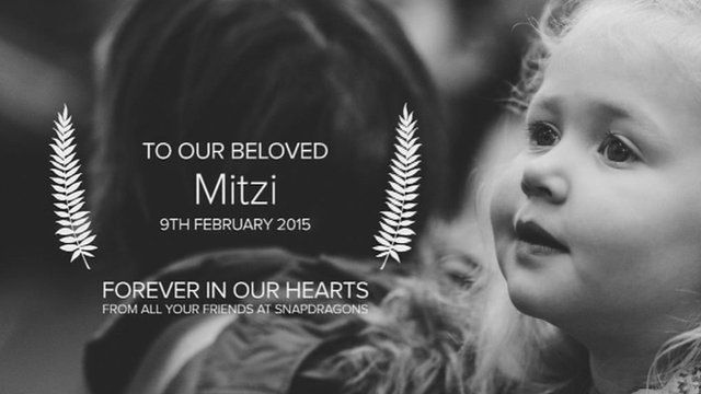 "Snapdragons Nursery paid tribute to their ""beloved"" Mitzi"