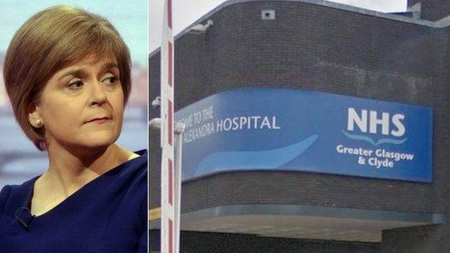 Nicola Sturgeon and Royal Alexandra Hospital in Paisley