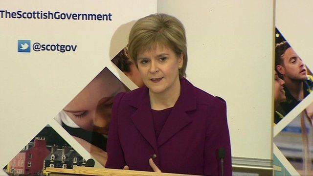 Nicola Sturgeon, making a speech in London