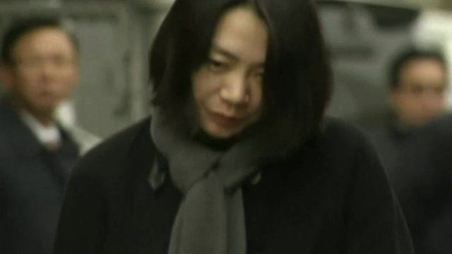 The airline executive's daughter Cho Hyun-ah at the centre of the nut row