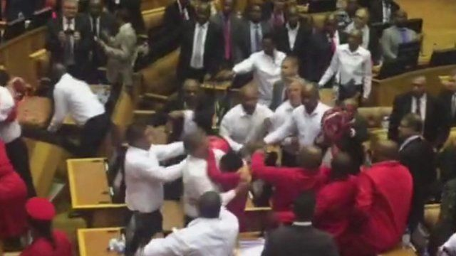 Video of South African parliament by Andrew Harding