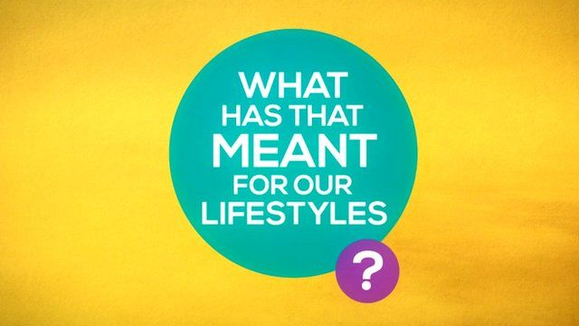 """""""What has that meant for our lifestyles?"""""""