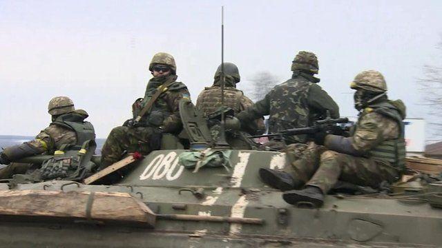 Troops on a tank