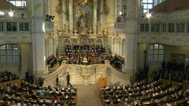 Dresden commemorative service at Frauenkirche