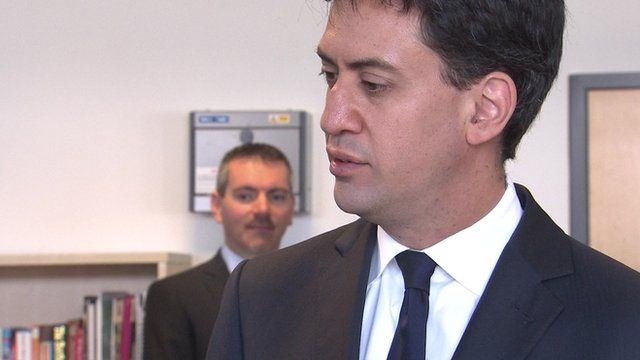 File pictures of Labour leader Ed Miliband