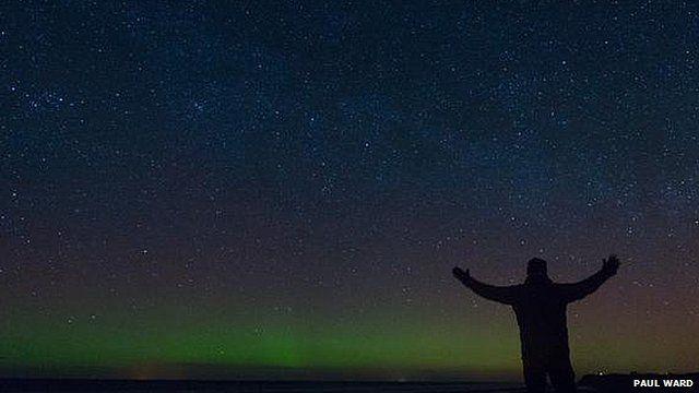 Aurora Borealis seen from Isle of Man