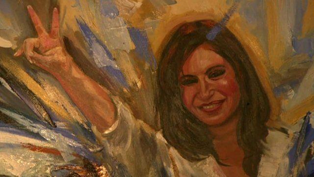 Painting of Cristina Fernandez de Kirchner