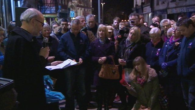 Hundreds gather in Gloucester to remember Hollie Gazzard