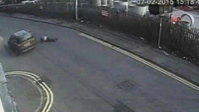 Man flung off bonnet