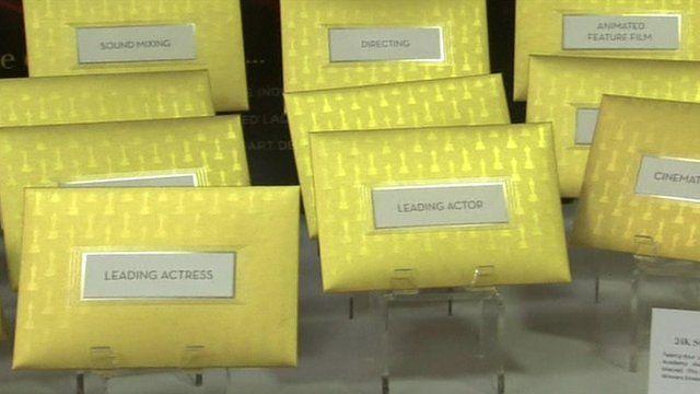 Gold Oscar envelopes