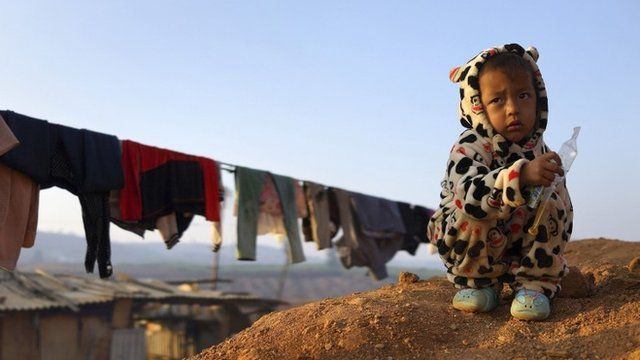 A child at refugee camep