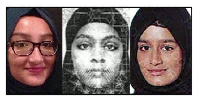 From left: Kadiza Sultana, Amira Abase and Shamima Begum left the UK a week ago