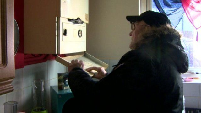 John Lundy's boiler broke down in December, leaving him without heat for almost two months