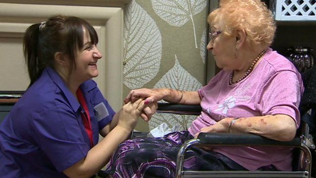 Carer and elderly client