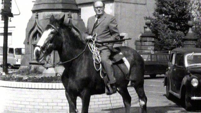 James Boyce on a horse