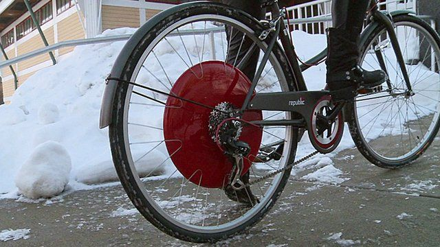 A bicycle with a Copenhagen Wheel