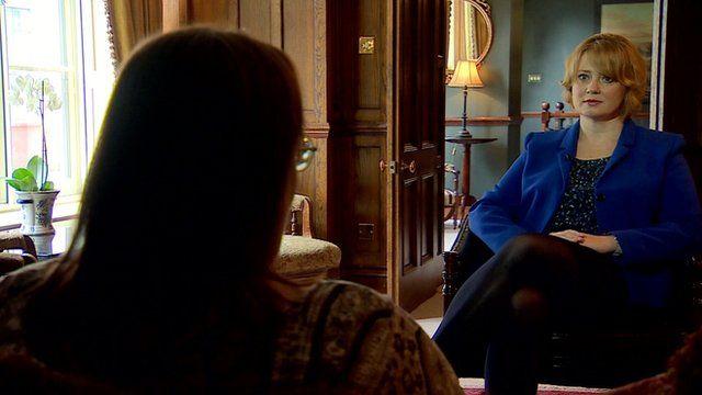 'Abigail' talking to Alison Holt