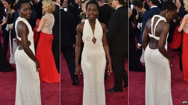 Lupita Nyong'o in the dress