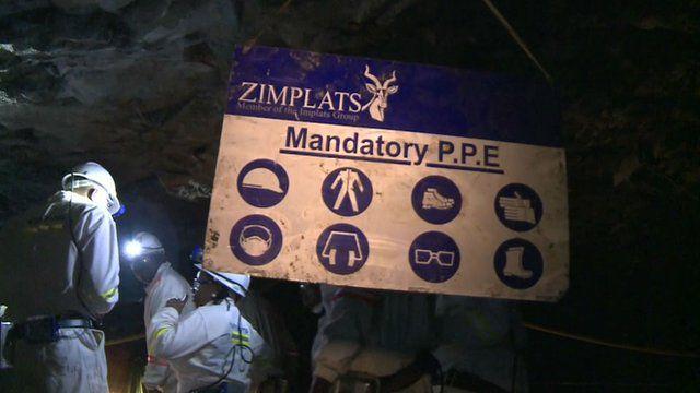 Zimbabwe platinum mine