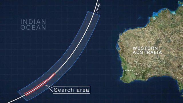 graphic shows search area
