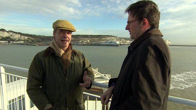 Nigel Farage and James Landale