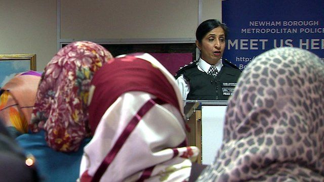 Domestic violence police workshop in mosque
