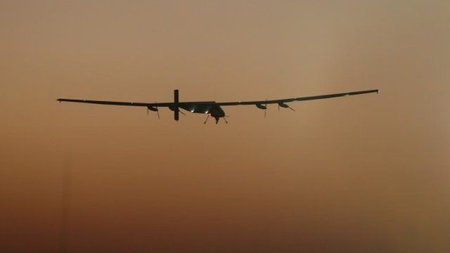 The Solar Impulse 2 on a test flight