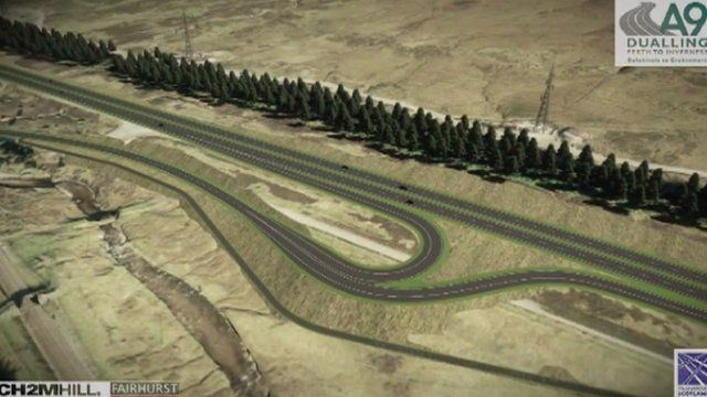 One proposal for the A9 junction at Dalwhinnie